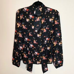 Forever 21 | Tie Neck Floral Print Blouse